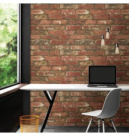 West End Red Brick Peel & Stick Wallpaper