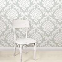 Ariel Grey Peel & Stick Wallpaper
