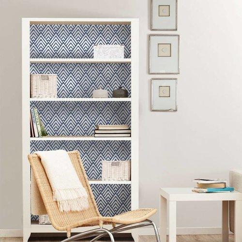 Arrowhead Deep Blue Peel & Stick Wallpaper