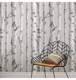 Mountain Birch Grey Peel & Stick Wallpaper