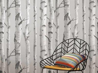 Mountain Birch Grey Peel & Stick Wallpaper
