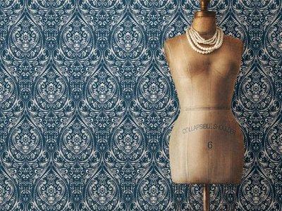 Bohemian Damask Indigo Peel & Stick Wallpaper