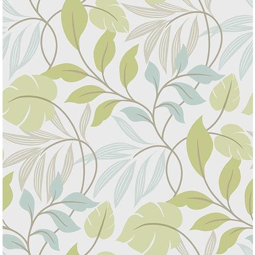 Blue and Green Meadow Peel & Stick Wallpaper