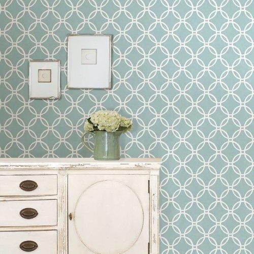 Blue Links Peel & Stick Wallpaper