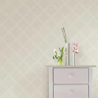 Taupe Quatrefoil Peel & Stick Wallpaper