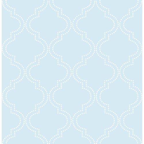 Blue Quatrefoil Peel & Stick Wallpaper