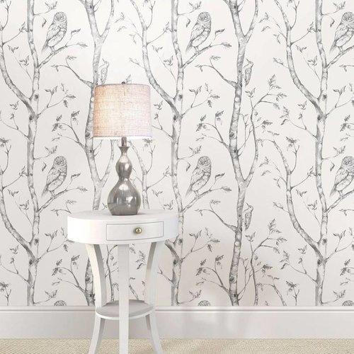 Grey Woods Peel & Stick Wallpaper