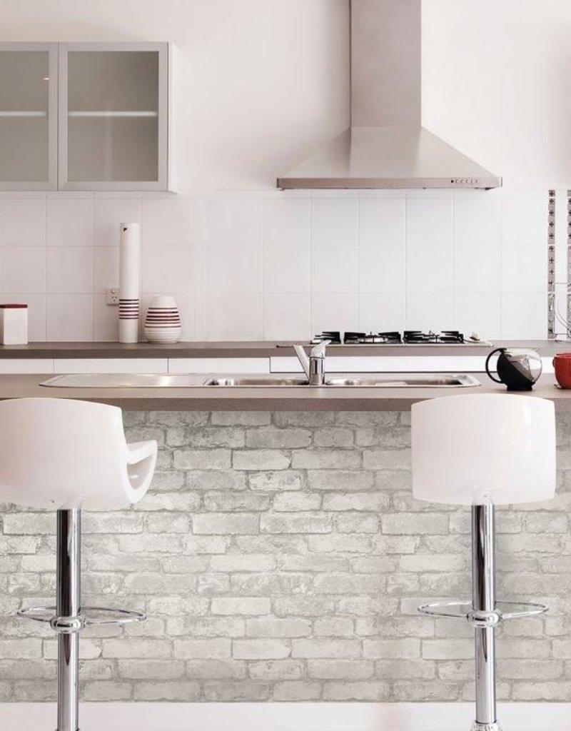 Grey And White Brick Peel Stick Wallpaper Decor2go Wall Fashion