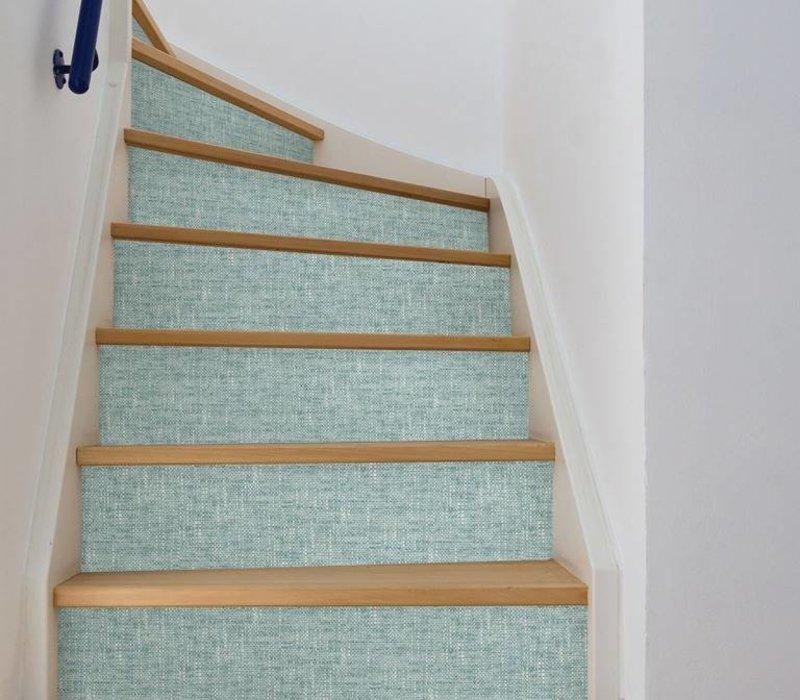 Aqua Poplin Texture Peel & Stick Wallpaper