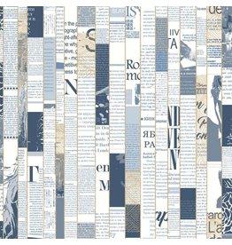 Read Between the Lines Wallpaper - Navy