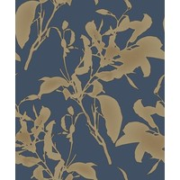 Botanical Silhouette Navy/Gold