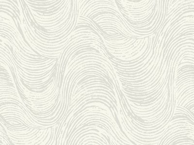 Ronald Redding Designs Masterworks Great Wave Wallpaper - Gray/White