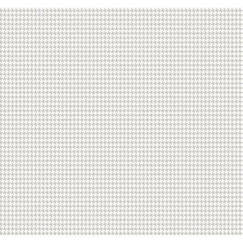 Tyler Houndstooth Wallpaper - Pearl/White