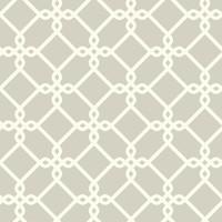 Threaded Links Wallpaper - White/Gray