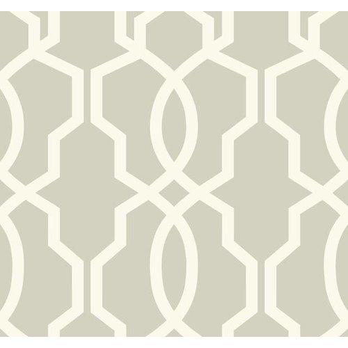 Hourglass Trellis Wallpaper - White/Gray