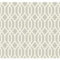 Garden Pergola Wallpaper - Cream/Gray