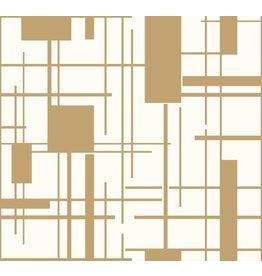 Ashford House Piet Wallpaper - Gold
