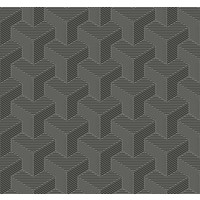 Hexahedron Wallpaper - Gunmetal