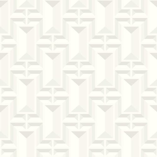 Facet Geo Wallpaper - White
