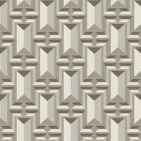Facet Geo Wallpaper - Taupe