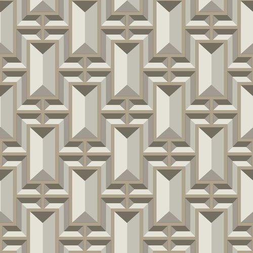 Facet Geo Wallpaper - Taupe