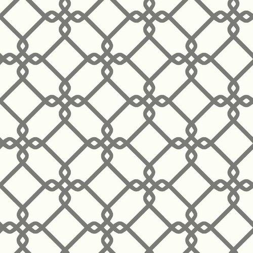 Threaded Links Wallpaper - Charcoal
