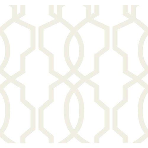 Hourglass Trellis Wallpaper - Pearl