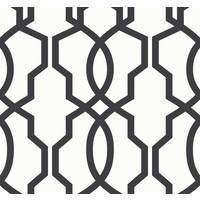 Hourglass Trellis Wallpaper - Black