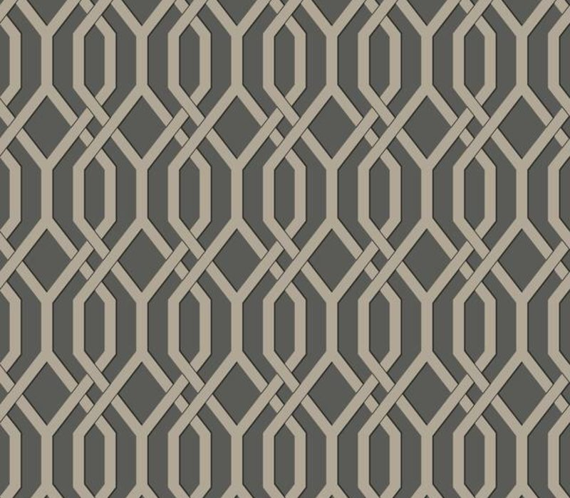 Garden Pergola Wallpaper - Gunmetal