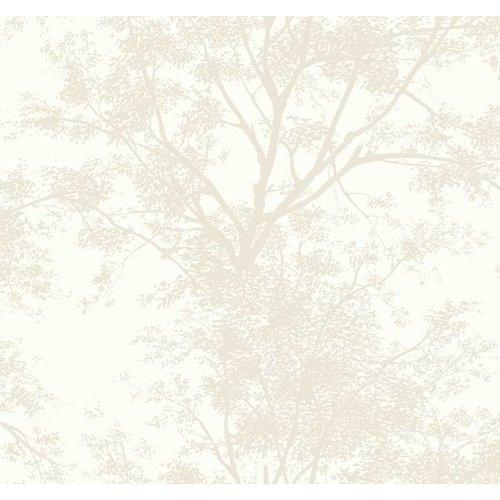 Tree Silhouette Sidewall Wallpaper - Pearl