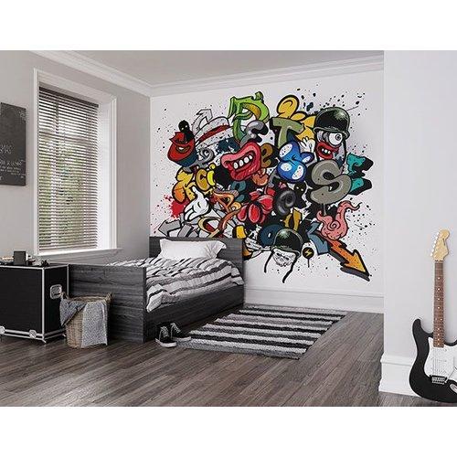 Spray Paint Wall Mural