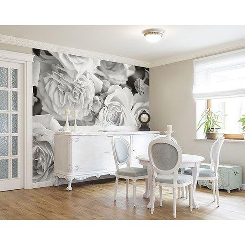 Grey Petals Wall Mural
