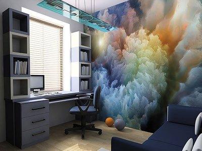 Moody Clouds Wall Mural