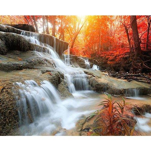 Autumn Waterfall Wall Mural