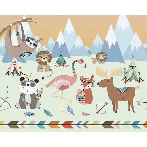 Animal Celebration Wall Mural