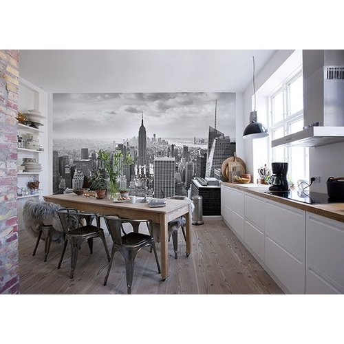 NYC Black and White Wall Mural