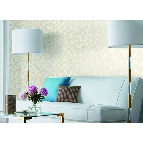 Posy Wallpaper - Silver