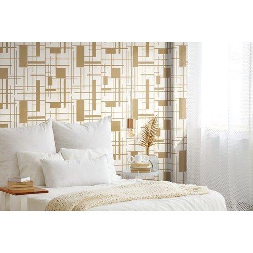 Piet Wallpaper - Gold
