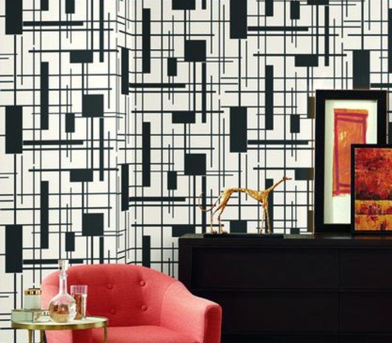 Piet Wallpaper - Black