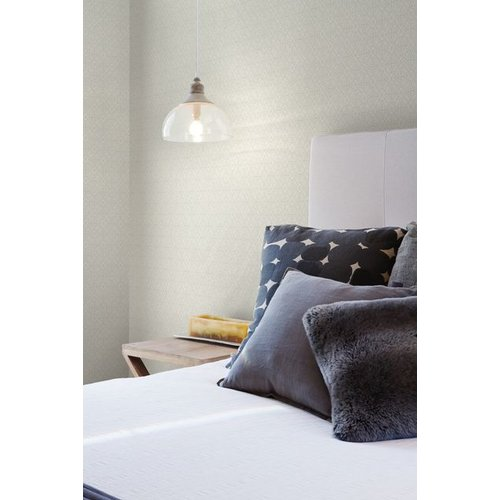 Lacey Circle Geo Wallpaper - Cream/Gray