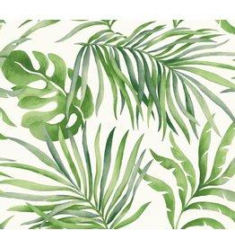 Paradise Palm Wallpaper Green