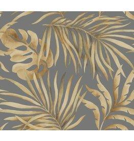 Paradise Palm Wallpaper Gold/Charcoal