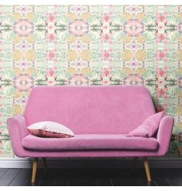 York Synchronized floral - Pastel pink