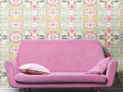 Synchronized floral - Pastel pink