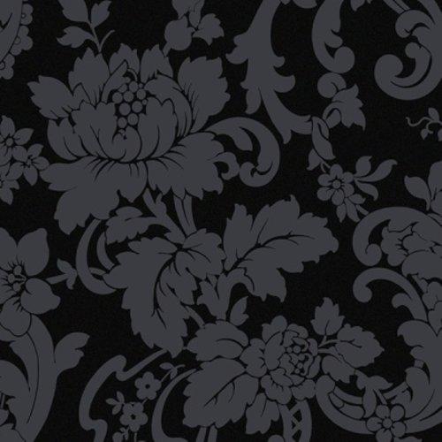 Black Floral Damask