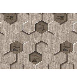 Lawalls Grey Hexagon Pattern