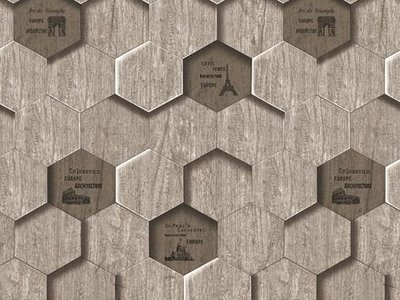 Lawalls Grey Hexagon Pattern