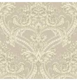 Fine Wallpapers Beige and Silver Damask