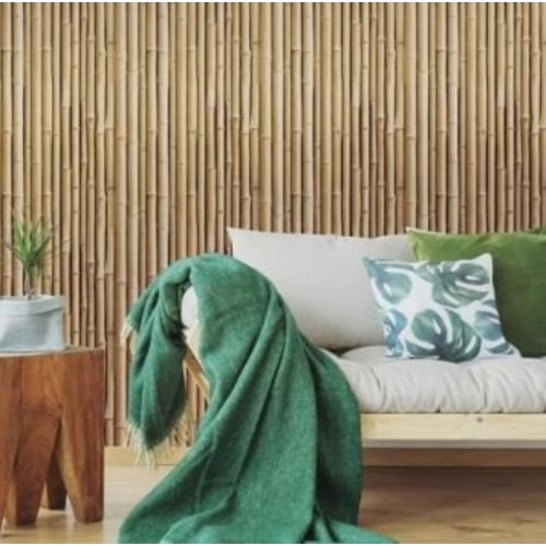 Bamboo- Brown Peel & Stick Wallpaper