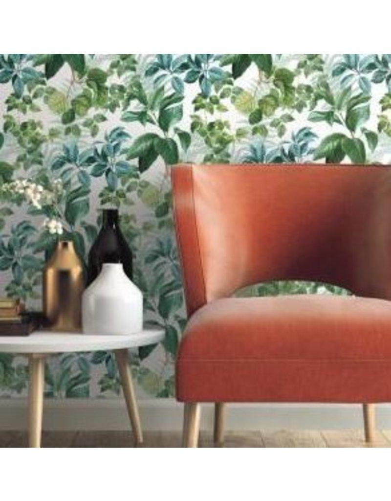 Rainforest Leaves Green Peel Stick Wallpaper